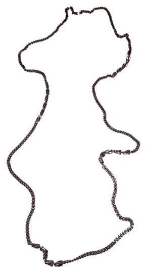MONET Long Silver-Tone Chain Necklace