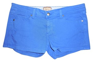 Paige Denim Mini/Short Shorts Royal Blue