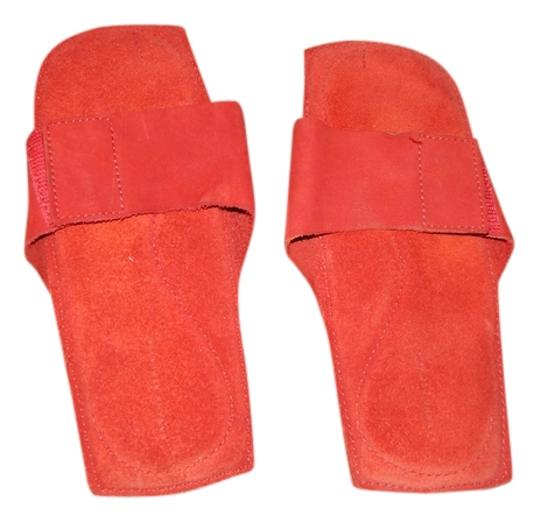 Banana Republic Suede Pedicure Velcro Red Sandals