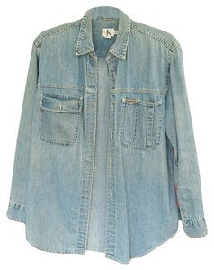 Calvin Klein Button Down Shirt Denim