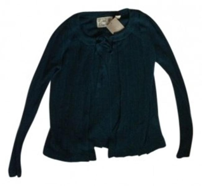 Preload https://img-static.tradesy.com/item/41168/anthropologie-teal-with-tie-neck-cardigan-size-4-s-0-0-650-650.jpg