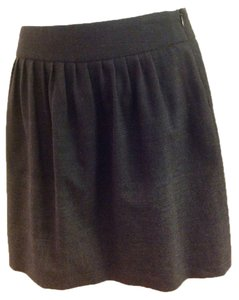 Theory Mini Skirt Charcoal gray