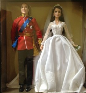 Collector's Prince William & Catherine Royal Barbie Dolls