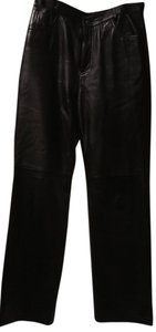 North Beach Leather Trouser Pants Black Leather