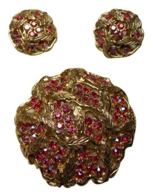 Item - Vintage Ab Pin and Earrings