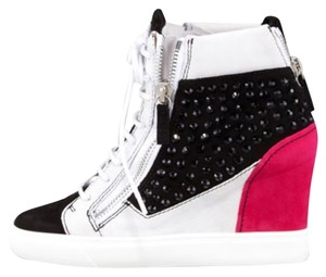 Giuseppe Zanotti Pink And Black Wedges