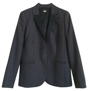 J.Crew Collection Wool Satin Gray Blazer