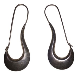 Other Sterling Silver Abstract Hoop Earings