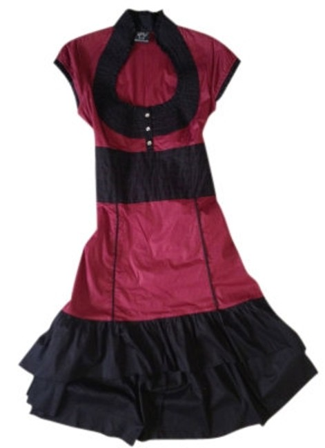 Preload https://item4.tradesy.com/images/shawna-hofmann-burgundy-and-black-steampunk-night-out-dress-size-10-m-41188-0-0.jpg?width=400&height=650