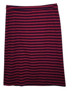 Tinley Road Summer Stripes Skirt Red and Blue