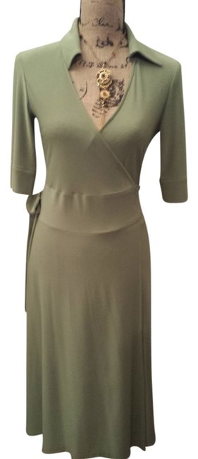 Item - Green Wrap Long Work/Office Dress Size 4 (S)