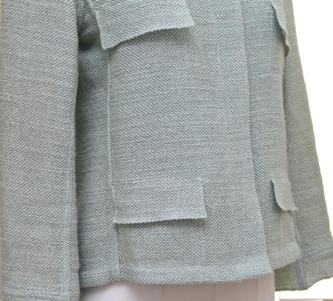 Chanel Chanel 2pc Jacket Blazer Skirt Suit Green Silver Vintage Coat