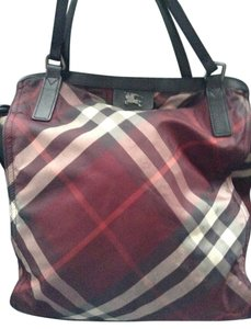 Burberry Monogram Leather Tote in check