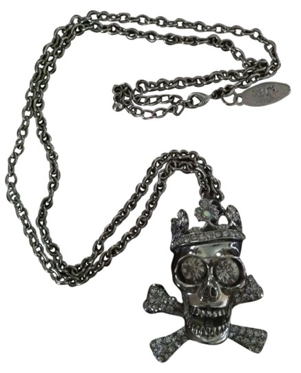 Cära Couture Jewelry Cara Couture NYC Jewelry Crystal Skull & Cross Bones Necklace