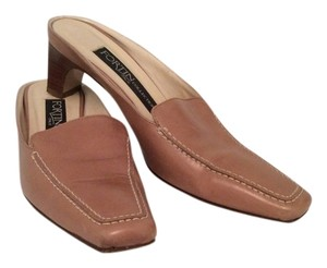 Fortin Collection Italian Made Tan Mules