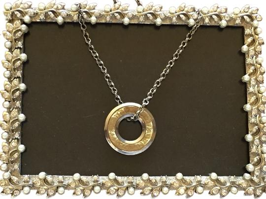 "Other 14k Gold / Sterling Silver Charm and Necklace. Made in Italy (32"")"