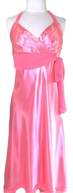 Light Peach Maxi Dress by Other Prom Evening Special Occasions Quinceanera Satin Chiffon Halter