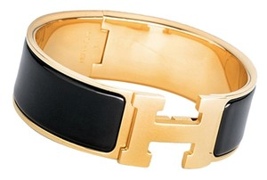 Hermès Hermes Black Clic Clac Gold Hardware GHW PM Wide