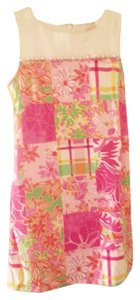 Lilly Pulitzer short dress Pink green Shift . Pink Floral on Tradesy