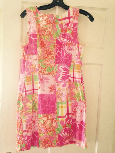 Lilly Pulitzer short dress Pink green Shift Floral on Tradesy