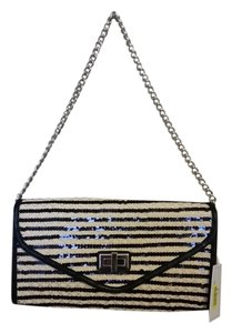 Straw Studios Sequin Black Clutch