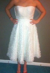 Melissa Sweet White Vintage Wedding Dress Size 6 (S)
