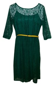 AB Studio short dress Green Lace Fit And Flare on Tradesy