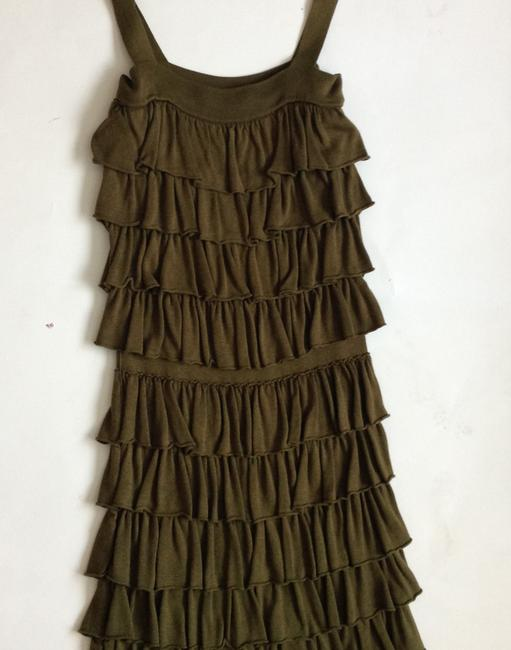Alice + Olivia + + Ruffle Olive Mini Dress