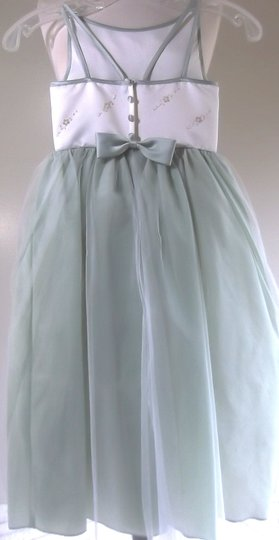 Bridal Originals Ivory / Sage Green Flower Girl Dress 1608