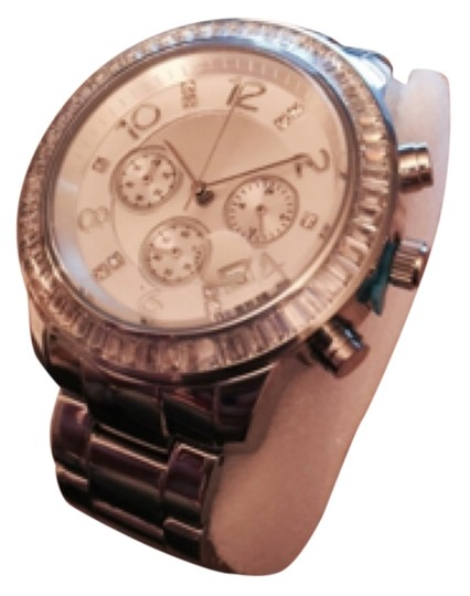 SILPADA BRAND NEW FINISHING TOUCH WATCH has plastic covering face BIG FACE WATCH! Double deployment butterfly buckle, cz, stainless steal, water resistant REG $279. Silpada Finishing Touch Watch T2956