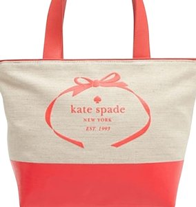 Kate Spade Canvas Large Tote in Beige