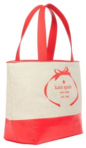 Kate Spade Canvas Large Travel Fabric Tote in Beige