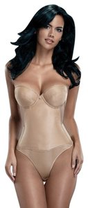 Merry Modes Merry Modes Flattering Me Longline Bra Bustier 728S Nude Size 34B