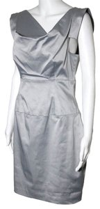 Black Halo short dress Silver on Tradesy