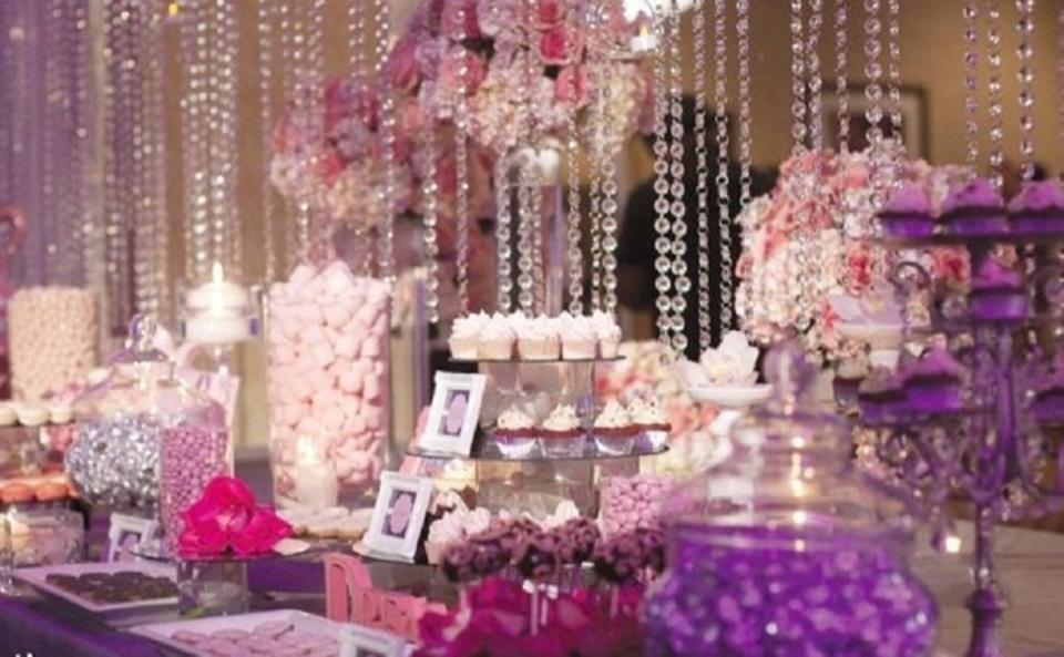 Crystal Clear Backdrop Cake Photo Both Reception Decoration