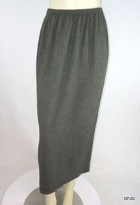 Other 198 Vtg 80s Hino Malee Black Slim Straight 15 Back Slit Skirt Green