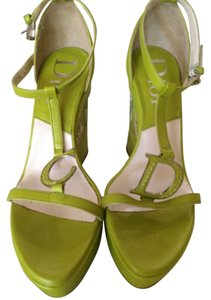 Dior Christian Green Wedges