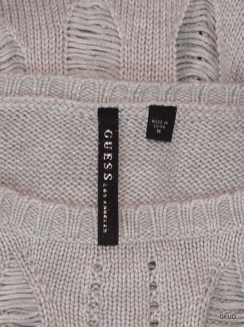 Guess Blend Pale Shredded Knit Sweater