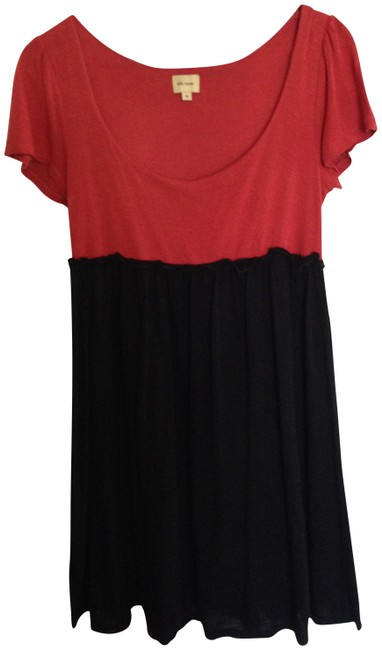 Ella Moss short dress Color block Red and Black on Tradesy