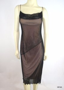 BCBGMAXAZRIA short dress Black Nude Sheer Beaded Slinky Evening Sharkbite Hem on Tradesy