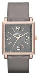 Marc by Marc Jacobs Marc By Marc Jacobs Truman Rose Tone Grey Leather Strap