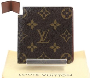 Louis Vuitton (GREAT CONDITION) Auth LOUIS VUITTON Monogram Porte Billets 6 Cartes Bifold Wallet M60929 Men
