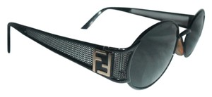 Fendi Fendi Black Metal Sunglasses With Case
