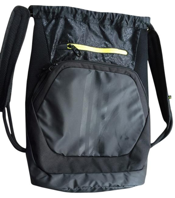 Item - Menace Black with Small Neon Green Trim Synthetic Backpack