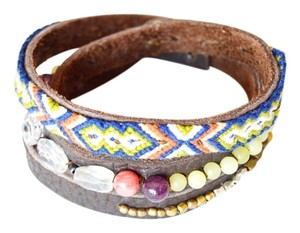Nakamol Tribal Leather Wrap Bracelet