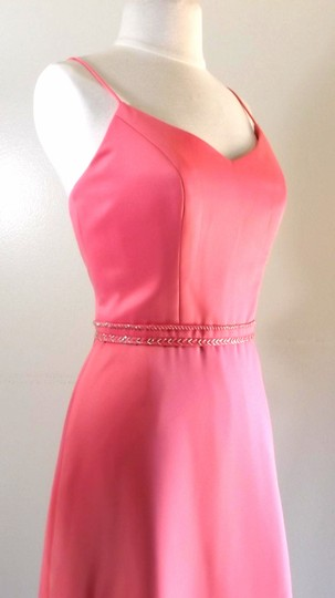 Alexia Designs Peach Satin Style 4040 Formal Bridesmaid/Mob Dress Size 8 (M)