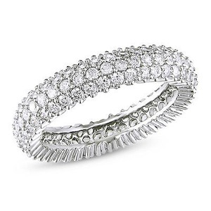 Amour 1.87 Ct Tgw White Cubic Zirconia Eternity Ring Silver