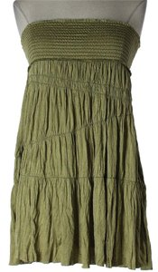 Free People short dress Green Viscose Sleeveless Summer on Tradesy