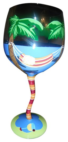 Preload https://item1.tradesy.com/images/other-hand-painted-palm-tree-wine-glass-4122745-0-0.jpg?width=440&height=440
