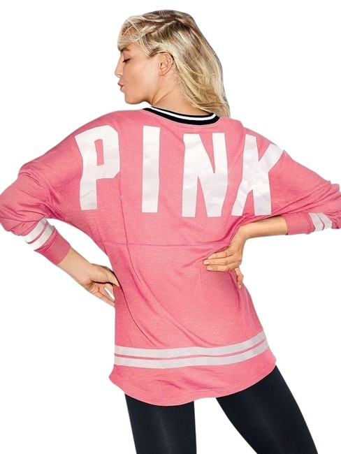 Preload https://item3.tradesy.com/images/pink-varsity-crew-pullover-tunic-neon-pink-4122847-0-0.jpg?width=400&height=650
